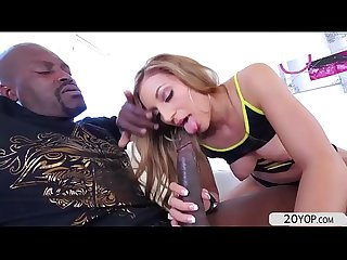 Tempting moka mora gets pounded by a big black cock