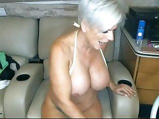 Mature granny with big tits