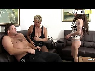 AMATEUR EURO - German Big Tits Matures Sucks And Rides Cock In Hardcore FFM Sex (Erna &..