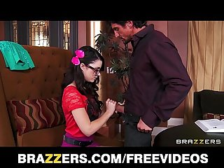 Nerdy young tutor gets fucked by her student s dad