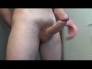 Morning hard cock and big cumshot