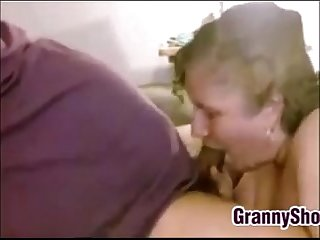 Grandma giving her husband a blowjob