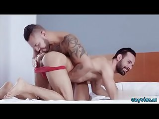 Latin gay anal sex and cum swap