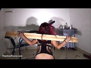 Latina bdsm and electro shock fetish of tortured south american slavegirl in ama