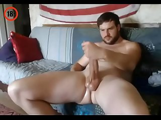 Bulgarian man wanks on cam