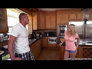 Petite teen bailey brooke s home alone with her daddy s friend dfmd15100