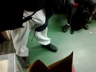 Safado de pau Duro no Metro flagra