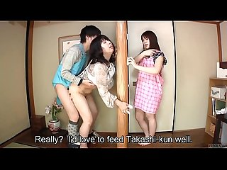 Subtitled japanese risky sex with Voluptuous mother in law
