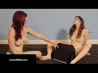 Ruby RedHead Lauren Phillips Does Sybian Dick w/ Jay Taylor!