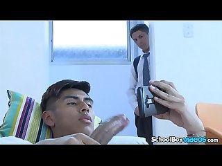Latino Twink boys bang each other