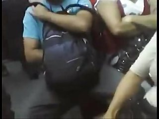 Caught Jacking off at sao Paulo metro