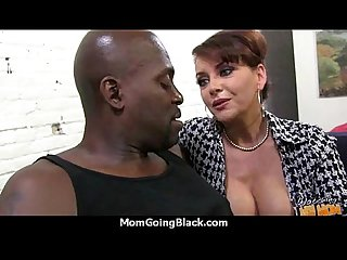 Hot milf mom make a blowjob and ride a big black cock interracial 21