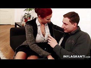 Busty german milf redhead secretary