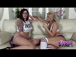 Porn girls cosplay nerd teen