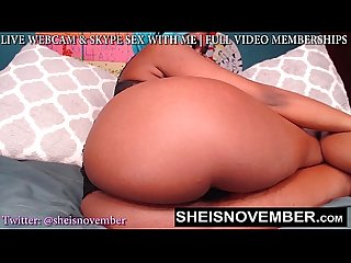 Big booty Webcam Model Babe msnovember pounding her pussy hard orgasm cam Model sheisnovember
