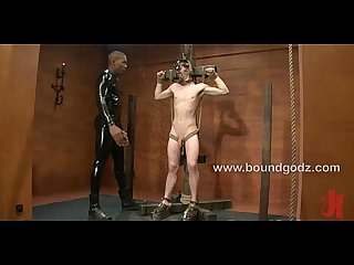 Tied up and fucked cj begs for his Masters load