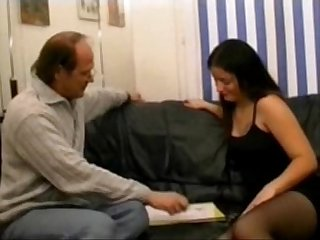 Anna a brunette analfucked in stockings