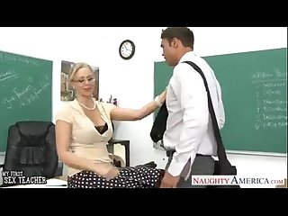 Hot blonde teacher julia ann fucks her student