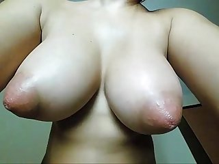 Huge tits girl shows her nipples and her tight pussy yourcamz com