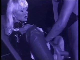 Very beautiful blonde helen duval in leather latex takes deep anal comma zenza raggi