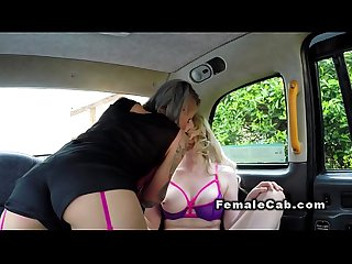 Female cab driver licks arse and cunt