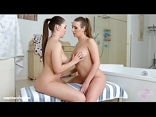 Bathtub babes by sapphic erotica sensual lesbian scene with angelina brill jes