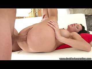Doubleviewcasting com emma opens her back door