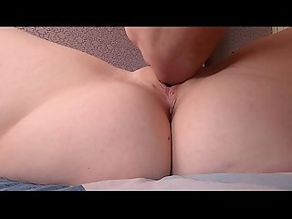 Real orgasm and vaginal contractions close up with clit licking
