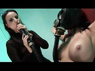 Two kinky lezzies pleasure themselves with toys