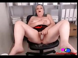 Grandma squirts on office webcam chattercams net