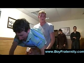 Young boys suck and get ass fuck by college guys in frat orgy