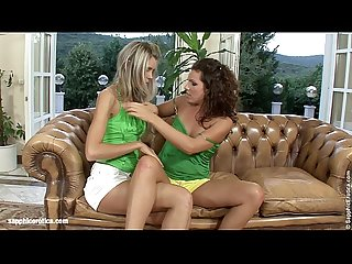 Slurping Sweeties by Sapphic Erotica - lesbian love porn with Brandy - Dominika
