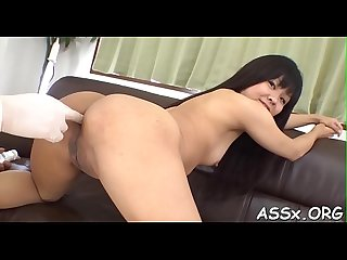 Erotic Asian pussy shaving and anal copulation