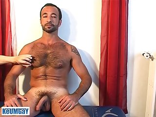 Kamel a very sexy mature sport guy gets wanked his hard cock by a guy