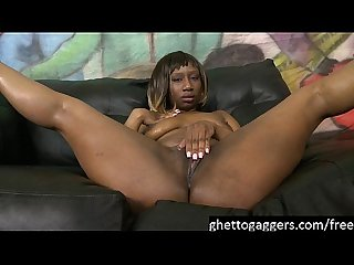 Sassy Slut Kenya Sweetz Gets Her Throat Violated