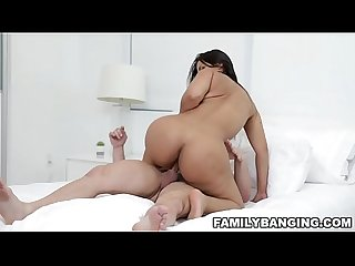 Latina milf stepmom rose monroe gets fucked by her stepson while her husband is locked up in the bat