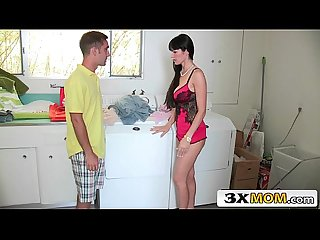Horny latina stepmom eva karera giving lucky boy a blowjob
