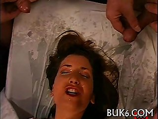 Moist blowjob with titty fuck