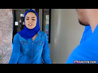 Sexy Hijab Teen Takes 2 Dicks