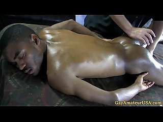 Straight black guy succumbs to masseur