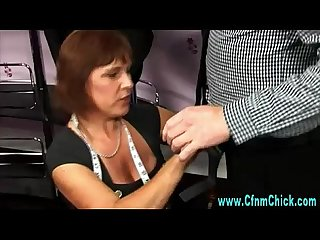 Cfnm tailor slut handjob
