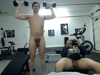 nude men in gym