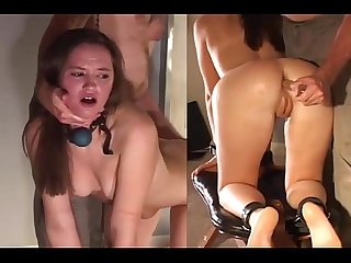 Teenie girl humiliated and spanked by her master