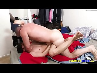 Bear Daddy Cums For Stepson