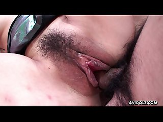 Cute asian slut with a hairy cunt gets fucked