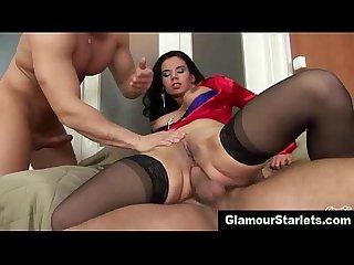 Nasty dp posh euro slut loves cock