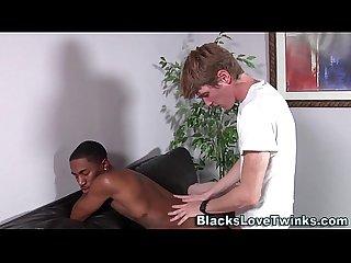 Black ass cum covered