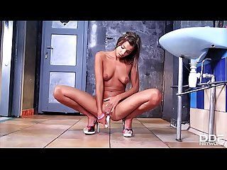 Watch slim hot college girl Melena Maria masturbate in front of the camera