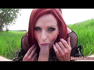 Canadian milf shanda fay finds a pretty place to fuck excl excl