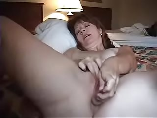 Spy cam catching mom masturbating alone bedroom